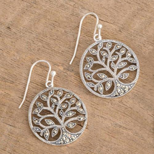 Irish Tree of Life Earrings with Marcasite 'Irish Tree of Life'