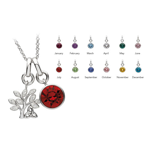 Tree of Life Trinity Necklace with Swarovski Crystals 'Tree of Life Trinity'
