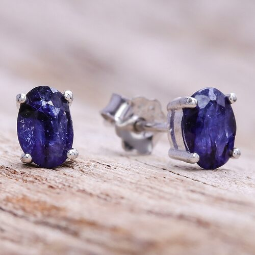 Oval Sapphire Stud Earrings from Thailand 'Oceanic Marvel'