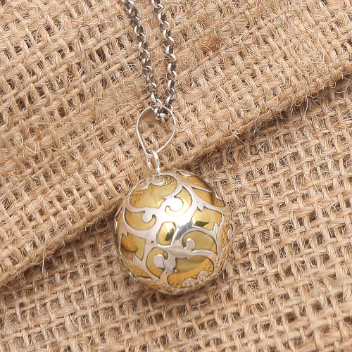 Bali Harmony Ball Necklace Handcrafted of Sterling Silver 'Becoming'