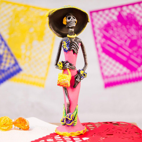 Catrina Day of the Dead Ceramic Sculpture from Mexico 'Gorgeous Catrina'