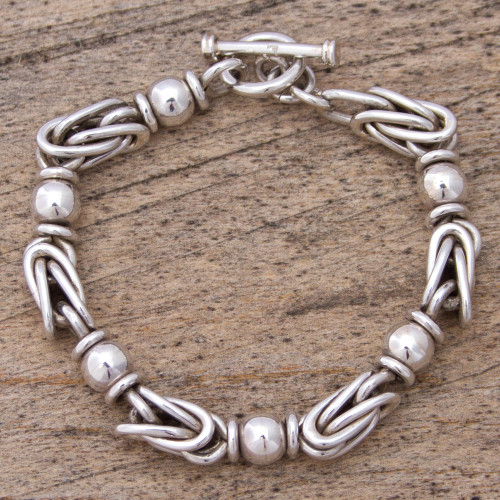 Sterling Silver Chain Bracelet from Mexico 'Marvelous Lighthouse'