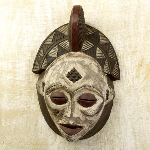 Gabonese Africa wood mask 'Spirit Guide'