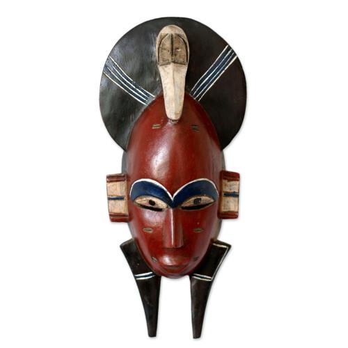 African Wall Mask 'Senufo Monkey Mask'