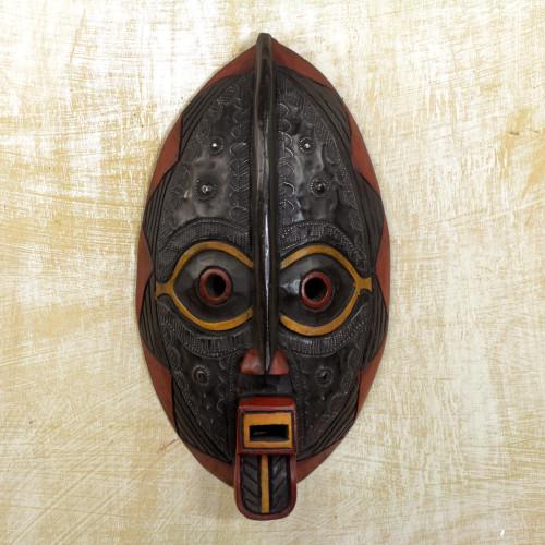 Unique Malian Wood Mask 'Spirit Talk'