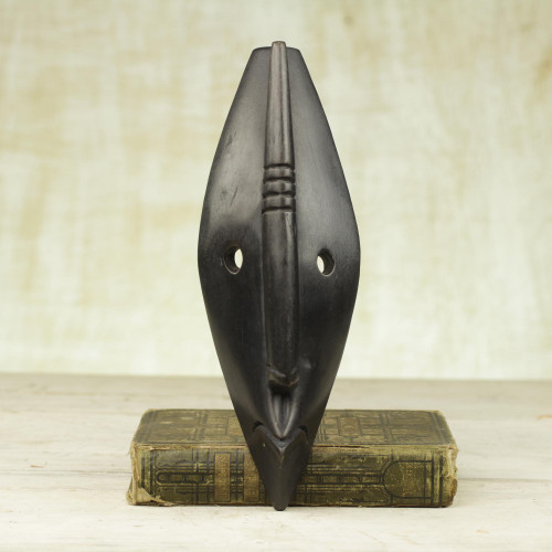 African Wood Mask 'Let Peace Reign'
