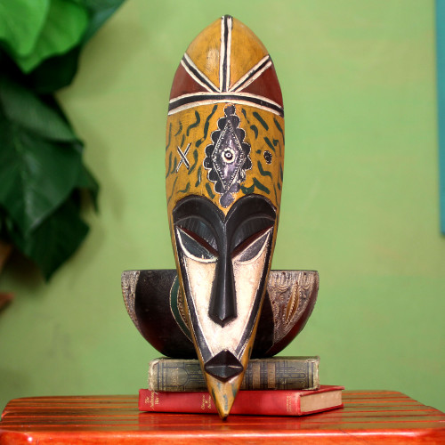 African wood mask 'Young Mother'