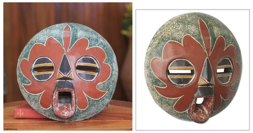 Original African Mask Crafted by Hand 'Amince'