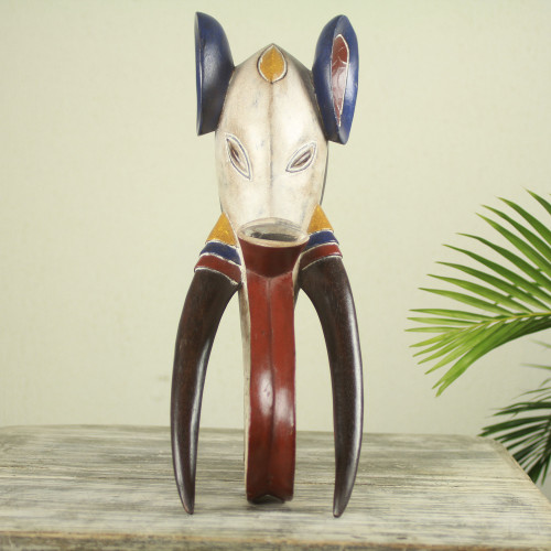 Hand Carved Guro Elephant Mask Made in West Africa 'Guro Elephant II'