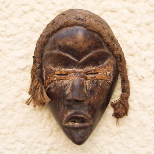 Dan-Inspired Rustic African Wood Mask from Ghana 'Dan Tribe'