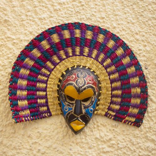 Artisan Made Sese Wood West African Wood Mask 'Alika'