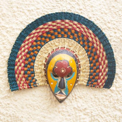 Artisan Made Sese Wood African Mask 'Bunme'
