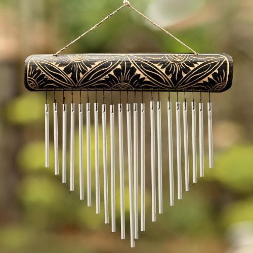 Handcrafted Bamboo and Aluminum Wind Chimes from Bali 'Melodic Dance'