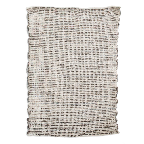 Handwoven Cotton and Wool Blend Mat from Guatemala 'Distant Lands'