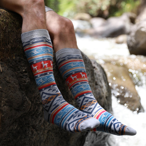 Multicolored Unisex Calf Socks 'Andina'