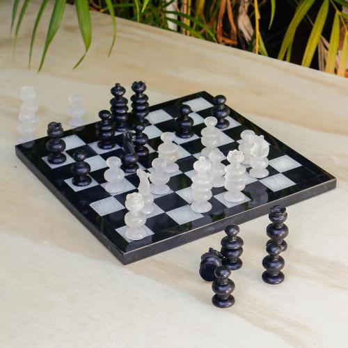 Collectible Stone Chess Set 'Triumph'