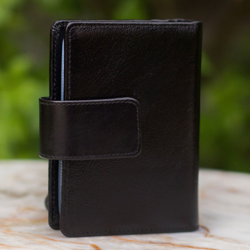 Leather wallet 'Infinite Black'