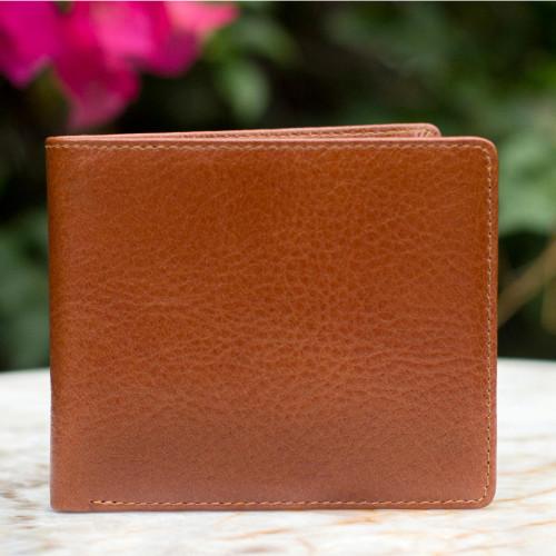 Men's leather wallet 'Explorer in Brown'