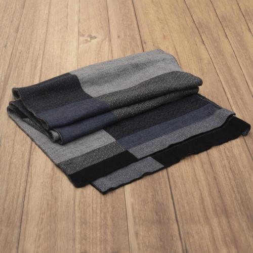 Monochrome Wool Knit Scarf 'Monochrome'