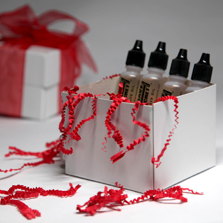 Shave Secret Shaving Oil - 4 Gift Pack Shave Secret provides the most comfortable, smooth shave ever! Shave Secret takes the place of all shaving creams, soaps, gels, powders, after shave and moisturizing lotions.