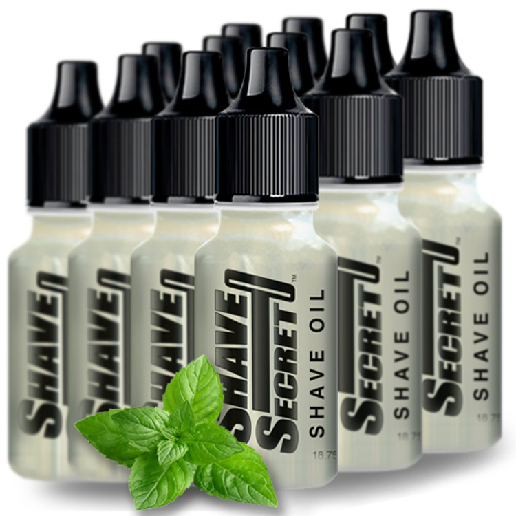 Shave Secret Shaving Oil (12 - 18.75 ml bottles) - Shave Secret Shaving Oil provides the most comfortable, smooth shave ever! Shave Secret takes the place of all shaving creams, soaps, gels, powders, after shave and moisturizing lotions.