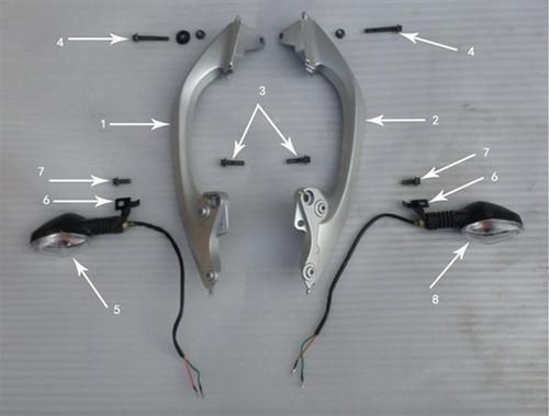 Hawk 250 Bolts (Armrest-Frame)