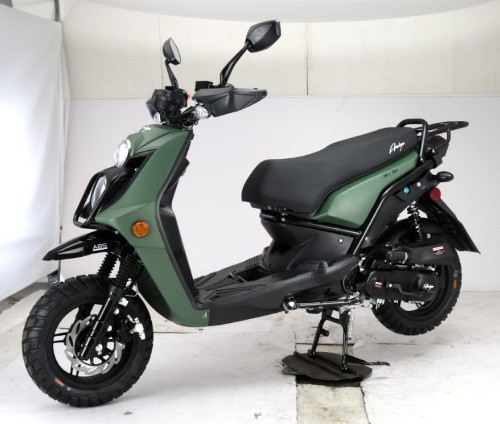 Amigo JAX-50 8.5 HP Gas Moped Scooter, 4-Stroke, Air Cooled, Fully Automatic, Electric and Kick Start
