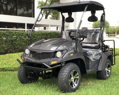 Carbon Fiber - Fully Loaded Cazador OUTFITTER 200 Golf Cart 4 Seater UTV - Fully Assembled and Tested