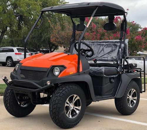 Orange - Fully Loaded Cazador OUTFITTER 200 Golf Cart 4 Seater UTV