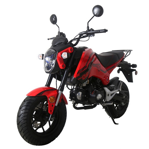 "TaoTao New Arrival! HELL CAT 125cc Motorcycle with Manual Transmission, Electric Start, 12"" Alloy Rim Wheels"