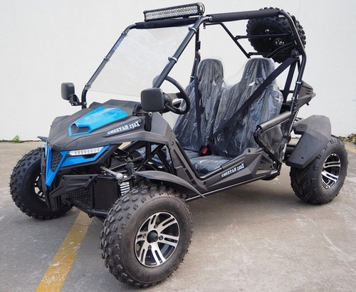 New TrailMaster Cheetah 150X Deluxe Go Kart, 4-Stroke, Single Cylinder, Air Cooled, Automatic With Reverse