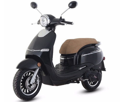 Trail Master Turino 150A Retro Design Scooter With Electric and kick start, Fully Assembled In Crate