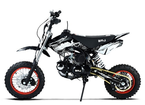 BMS PRO 110 Dirt Bike, 107cc 4-Stroke, Semi-Automatic