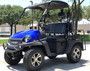 Blue - Fully Loaded Cazador OUTFITTER 200 Golf Cart 4 Seater UTV