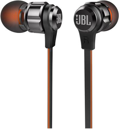 JBL In-Ear Earphones - Black/Orange(T180A)