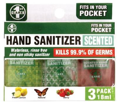 1ST CARE Hand Sanitizer 3pack 18ml (90396)