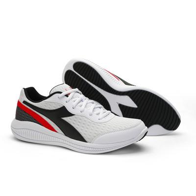 DIADORA Mens Eagle 4 Running Shoes  - White/Black/Red (176888)