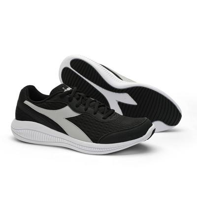 DIADORA Mens Eagle 4 Running Shoes  - Black/Silver/White (176888)