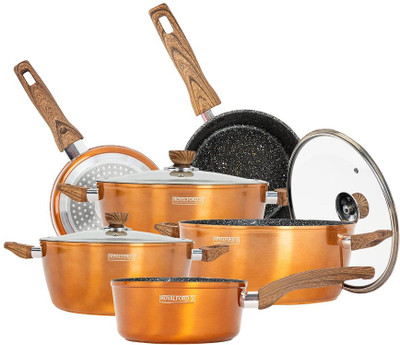 ROYALFORD 9pc Granite-Coated Non-Stick Cookware Set (RF9769)