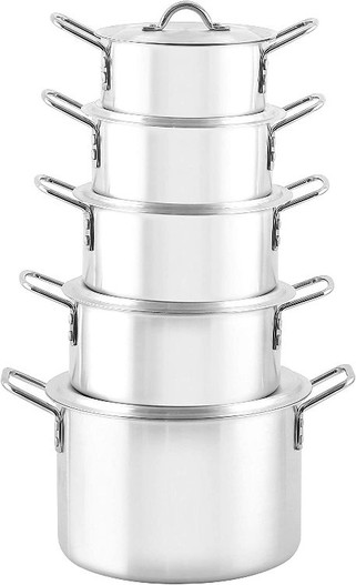 ROYALFORD 5pc Aluminum Casserole Pot with Lid and Handle (RF8994)