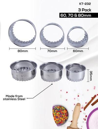 DURACHEF 3pc Biscuit Cutter Set (KT-232)