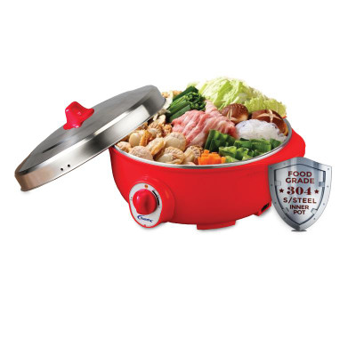 POWERPAC 4.8L Electric Wok & Steamboat (PPEC813)