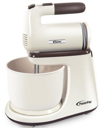 POWERPAC Hand Mixer with Bowl (PPSM208)