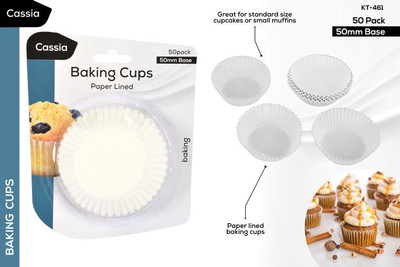 CASSIA 50pc Paper Baking Cups (KT-461)