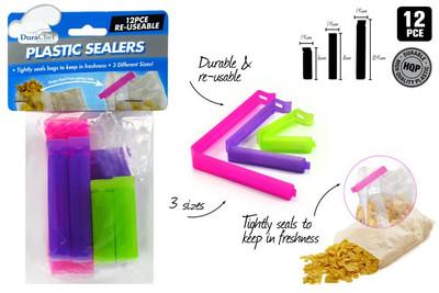 DURACHEF 12pc Plastic Sealers (KT-525)