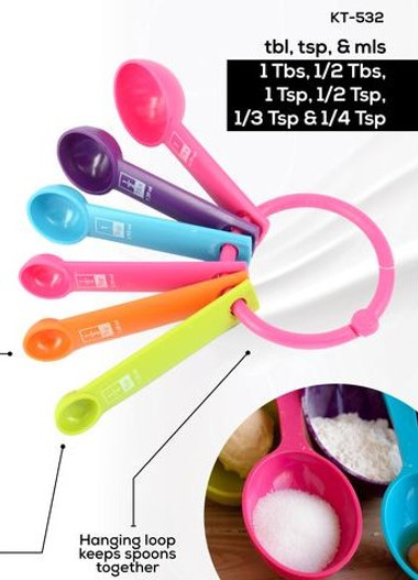 DURACHEF Multi Coloured Measuring Spoons (KT-532)