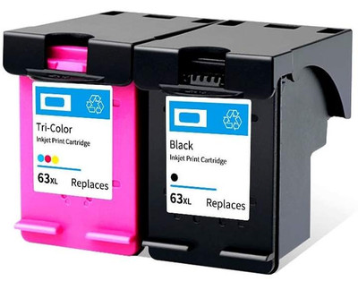 ANYCOLOR Compatible 63XL Colour Ink Cartridge for HP (AC-63XL)