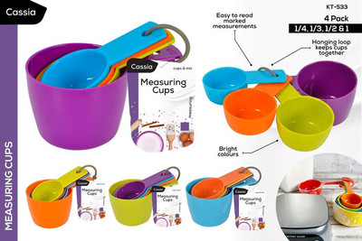 CASSIA 4pc Measuring Cups Set (KT-533)