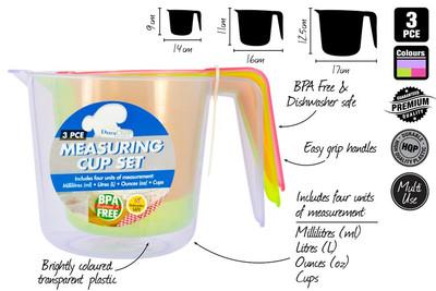 DURACHEF 3pc Measuring Cup Set (KT-555)