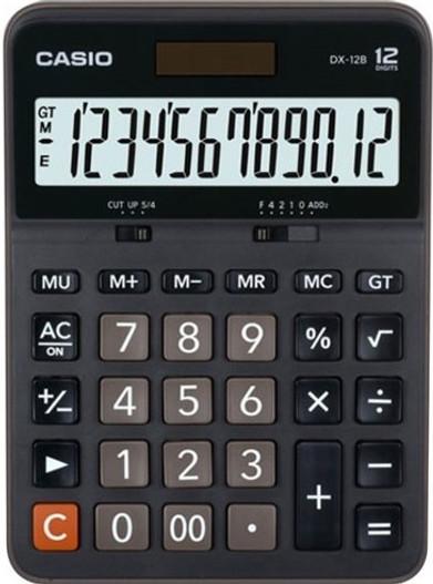 CASIO 12 Digit Desktop Calculator (DX-12B)